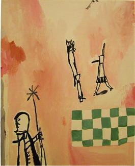 mute libertine 02 (2003, 40.0x50.0cm, canvas, acrylic)
