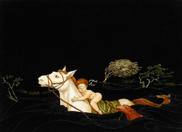見ることを探して Seeking of Seeing 33.3x24.2cm / 2014 / acrylic, oil, pigment, canvas